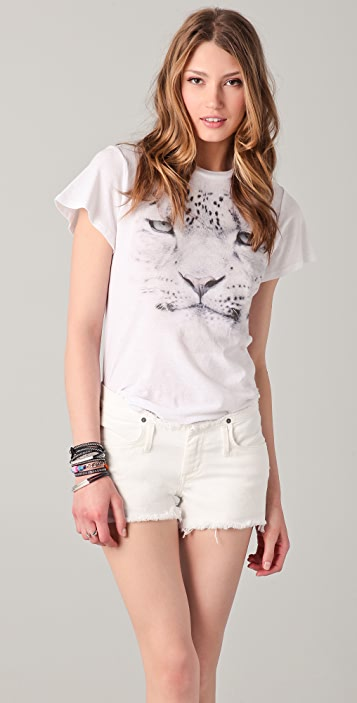 Wildfox Wildfox White Label Snow Leopard Tee