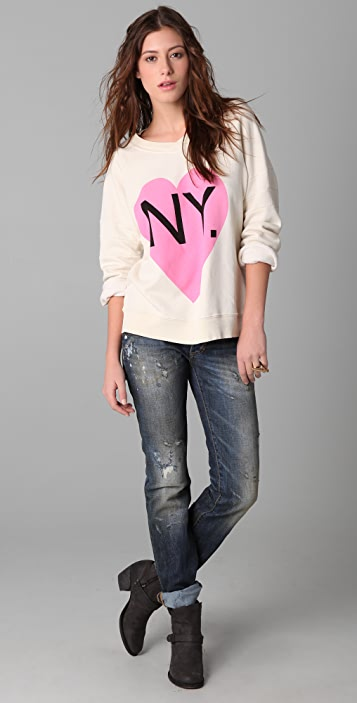 Wildfox Original Gidget Bi-Coastal Girl Sweatshirt