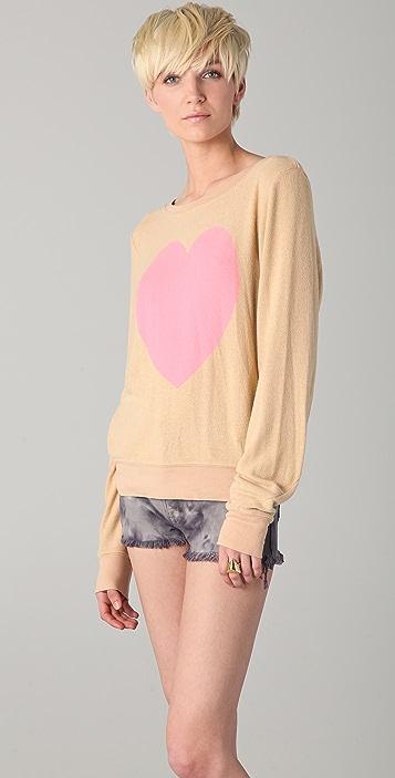 Wildfox Heartland Baggy Beach Sweatshirt
