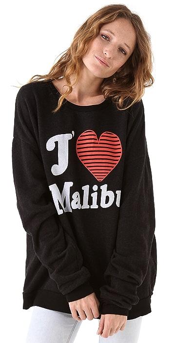 Wildfox J'Adore Malibu Barefoot Sweatshirt