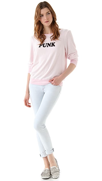 Wildfox Punk Baggy Beach Sweatshirt