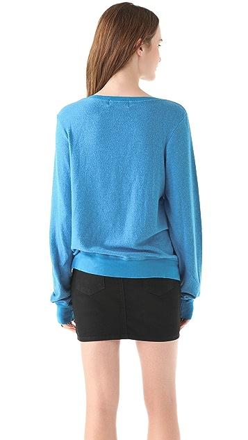 Wildfox Inside Out Baggy Beach Sweatshirt