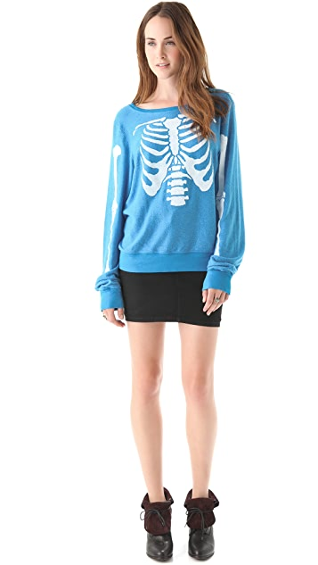 Wildfox Inside Out Baggy Beach Sweatshirt