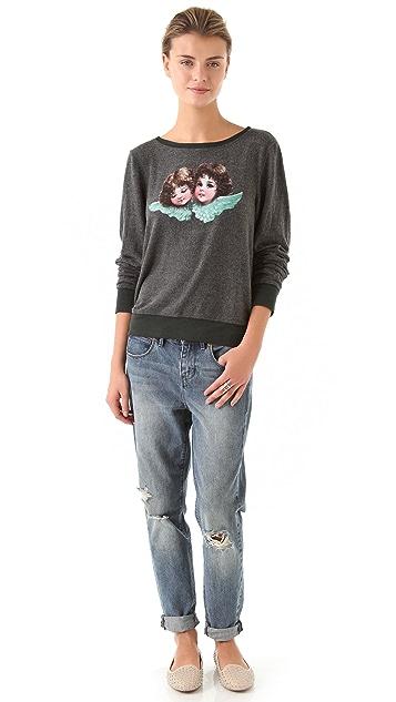 Wildfox Angels Baggy Beach Sweatshirt