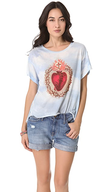 Wildfox Burning Heart Tee
