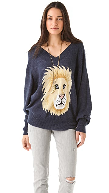 Wildfox Leone V Neck Sweater