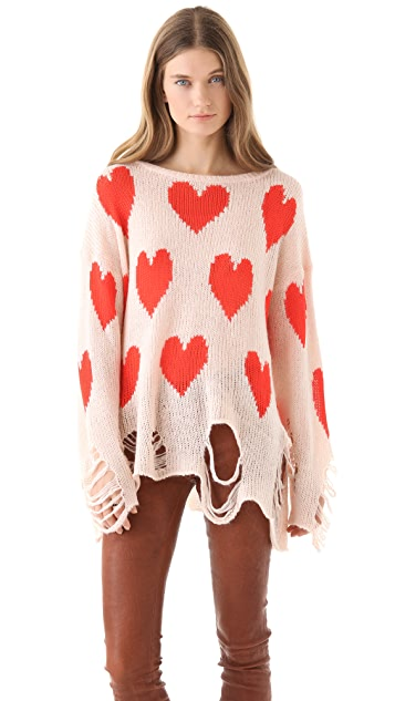 Wildfox All Over Love Sweater