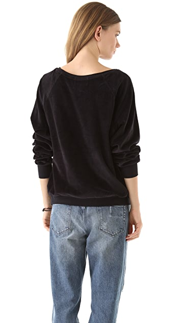 Wildfox Mary Velour Sweatshirt