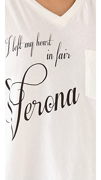 Wildfox My Heart In Verona Tee