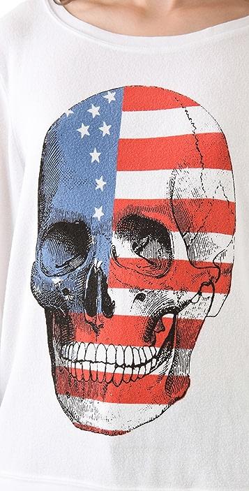 Wildfox American Dream Baggy Beach Sweatshirt