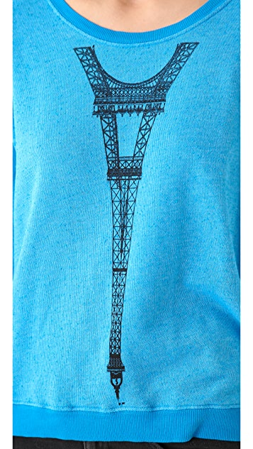 Wildfox Tour Eiffel Oversized Sweatshirt