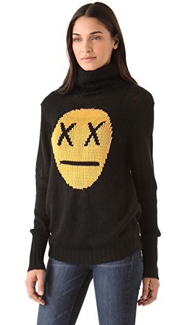 Wildfox Seattle '90s Face Sweater