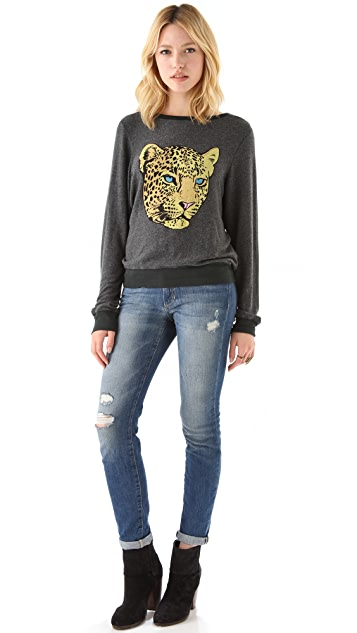 Wildfox Verona Cat Baggy Beach Sweatshirt