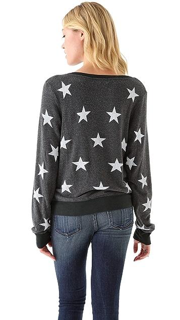 Wildfox Starshine Baggy Beach Sweatshirt