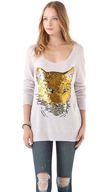 Wildfox Sequin Lion Friend Sweater