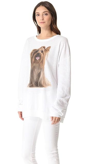 Wildfox Granny's Dog Barefoot Sweater