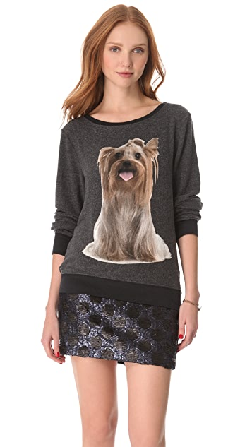 Wildfox Granny's Dog Baggy Beach Sweatshirt
