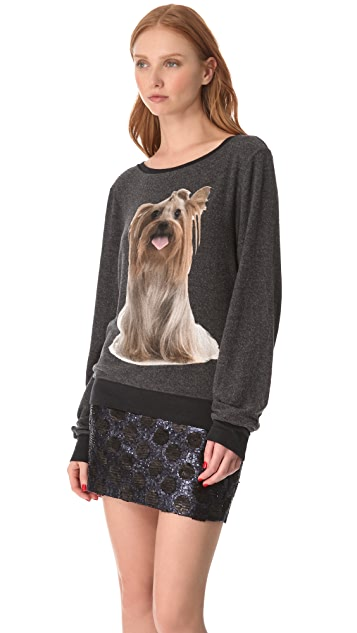 Wildfox Granny's Dog Baggy Beach Sweatshirt