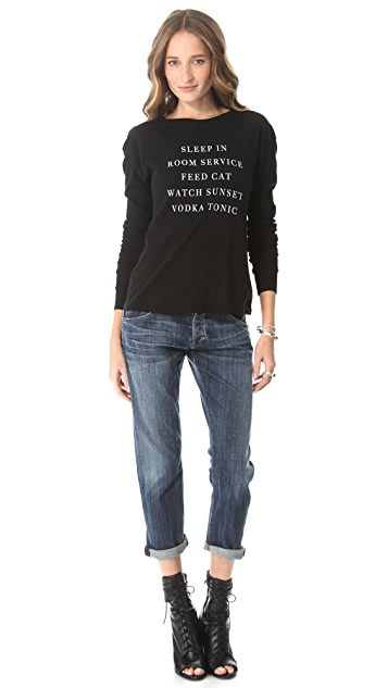 Wildfox Every Day Long Sleeve Tee