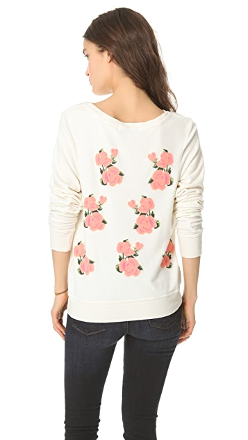 Wildfox Prairie Rose Baggy Beach Sweatshirt