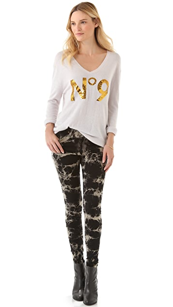 Wildfox Sequined No.9 Sweater