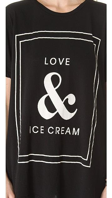 Wildfox Love & Ice Cream Tee