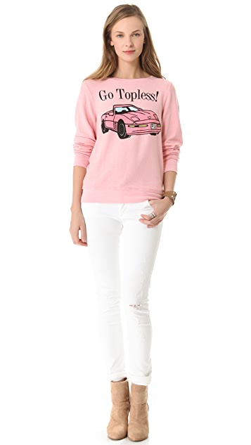 Wildfox Go Topless Sweatshirt
