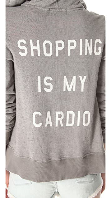 Wildfox Shopping is My Cardio Hoodie