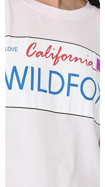 Wildfox Wildfox Plates Crew Neck Tee