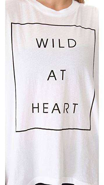 Wildfox Wildest Heart Muscle Tank