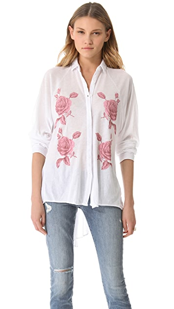 Wildfox Sunday Button Down Shirt