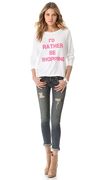 Wildfox Rather Be Shopping Sweatshirt