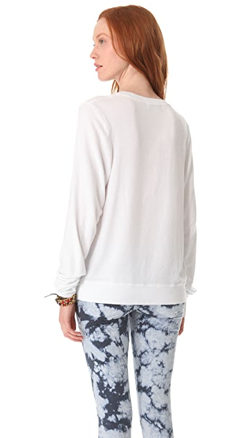 Wildfox Everything is Love Baggy Beach Sweatshirt