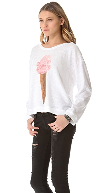 Wildfox Breakfast Oversized Sweater
