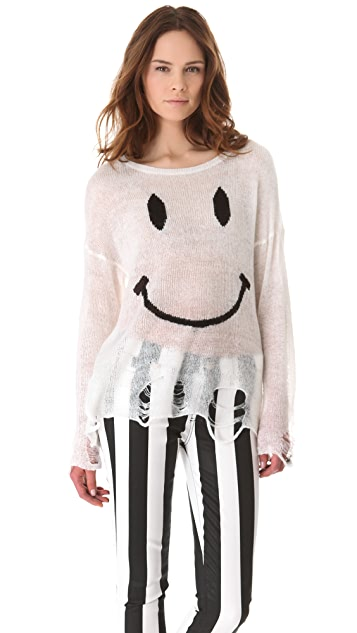 Wildfox 90s Smile Knit Sweater