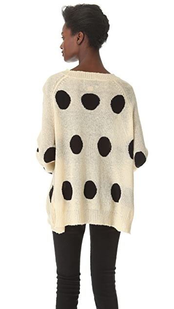 Wildfox Poka Dot It Sweater