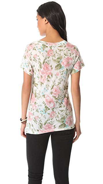 Wildfox Desert Rose V Neck Tee