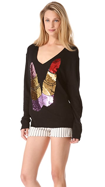 Wildfox Sequin Lipstick Sweater