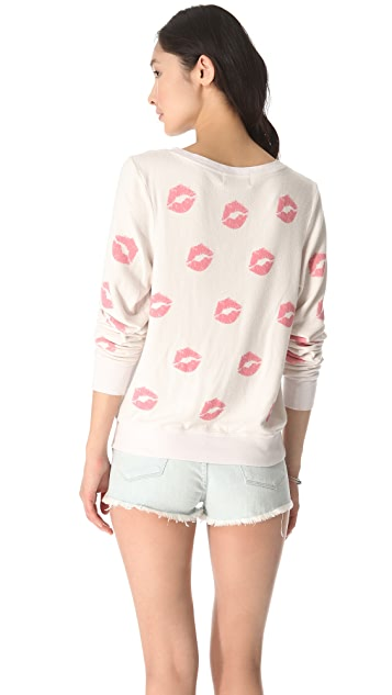 Wildfox Covered in Kisses Sweatshirt
