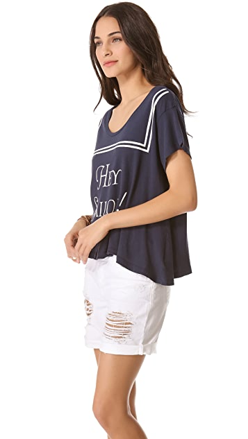 Wildfox Hey Sailor! Lazy Weekend Tee
