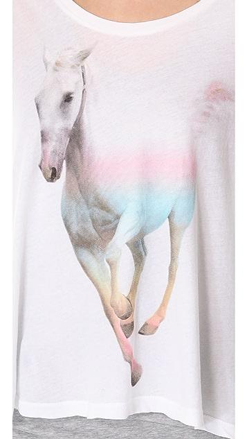 Wildfox Rainbow Pony Lazy Weekend Tee
