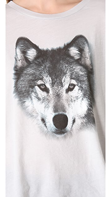 Wildfox Grey Wolf Tee