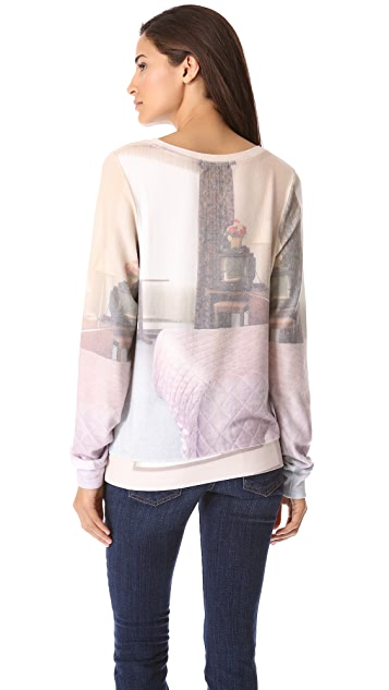 Wildfox Motel Mirrors Baggy Beach Sweatshirt