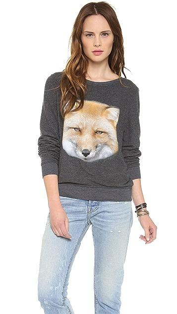 Wildfox Fox Baggy Beach Sweatshirt