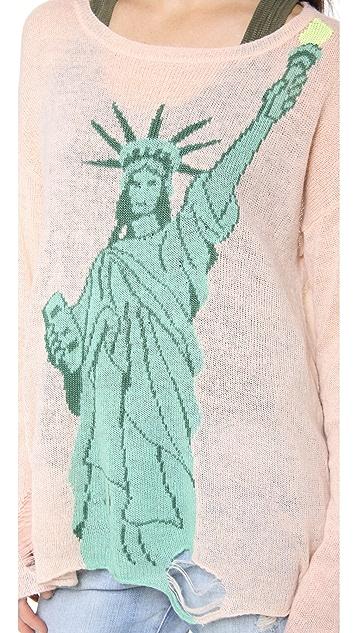 Wildfox Statue of Liberty Lennon Sweater
