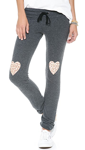 Wildfox Leopard Heart Sweatpants