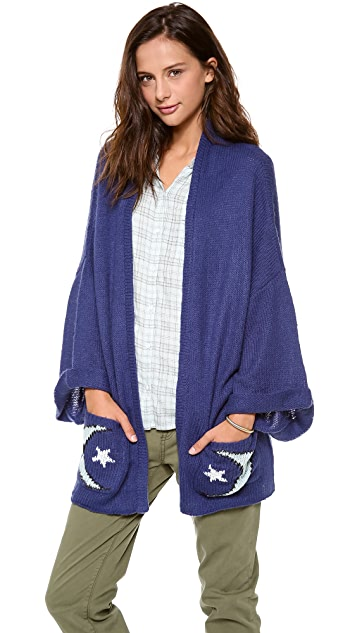 Wildfox Moon & Star Cardigan