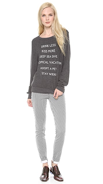 Wildfox New Year Baggy Beach Sweatshirt