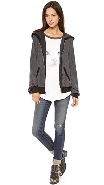 Wildfox It Was Only A Dream Zip Up