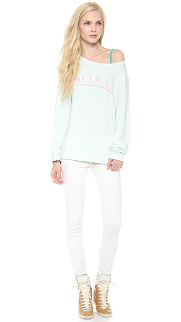 Wildfox Oo La La Baggy Beach Sweatshirt